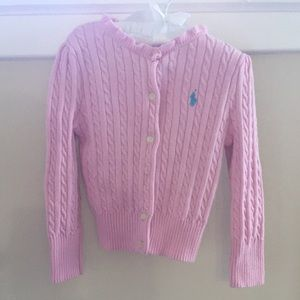 🆕 Ralph Lauren Light Pink Cardigan Sweater 2T